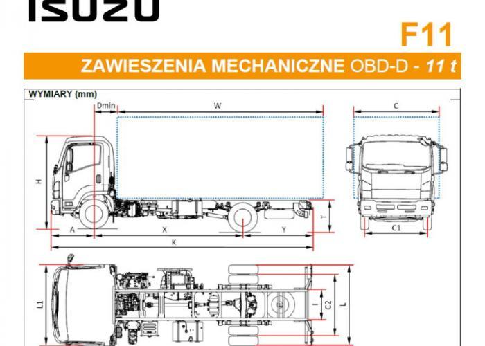 Katalóg Isuzu F11 Zawieszenia mechaniczne