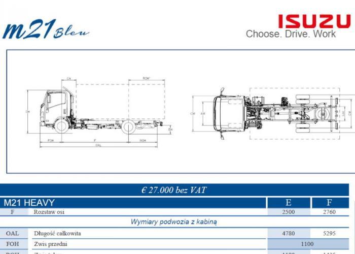 Opis techniczny Isuzu M21 Heavy