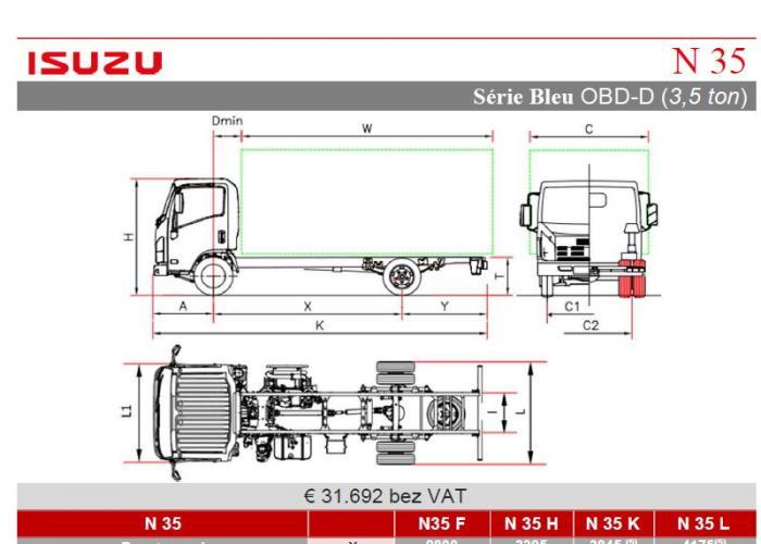 Opis techniczny Isuzu N35