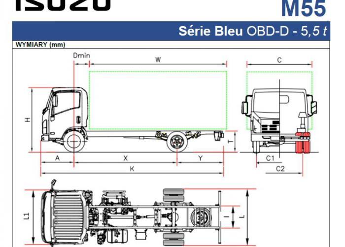 Opis techniczny Isuzu M55